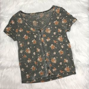 AE Floral Button Up Shirt